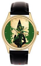Green Arrow Superhero Comic Art Collectible Postmodern Art Wrist Watch, Brass