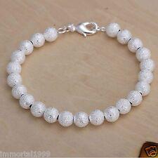 Bracelet plaqué Argent 925 Perle imitation 8 mm