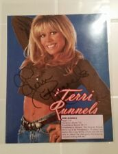 Terri Runnels Autographed WWE WWF Superstar 8x10 photo Auto Breast Cancer stats