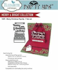 Elizabeth Crafts Designs Cutting Die Set  MERRY CHRISTMAS POP-UP ~3D Cards ~1039