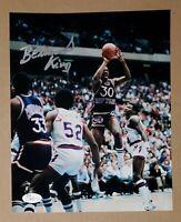 Bernard King Auto Knicks HOF  8X10 Photo vs Nets JSA Authentic Signed Autograph