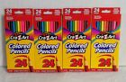 LOT of 4 - Cra-Z-Art Sharpened Colored Pencils 24 Count (NEW)