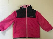 NEW Oshkosh Girls Reversible Full Zip Fleece Jacket - Pink & Blue 2T - 5