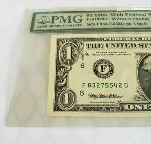 1995 $1.00 Experimental WEB NOTE PMG Choice Ab Uncirculated 58 EPQ (FP 4 BP 9)