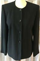 GERRY WEBER Damen Jacke Blazer 40 schwarz leicht strukturiert Knöpfe NEUwert
