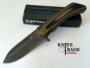 Ka-Bar 3066 Flipper Mark 98 Folding Pocket Knife 5Cr15MoV Stainless G10 Handle