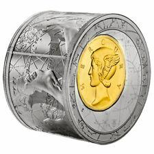 Niue 2014 Mini Fortuna Redux Mercury First Cylinder Shape 3 oz Proof Silver Coin
