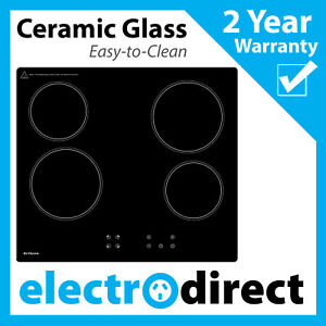 Brilcon 60cm Ceramic Cooktop Black Glass Electric Hob Cook Top Stove Easy Clean
