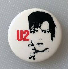"RARE Vintage 1981 U2 Boy promo pinback button pin 1"" badge band Bono The Edge NM"