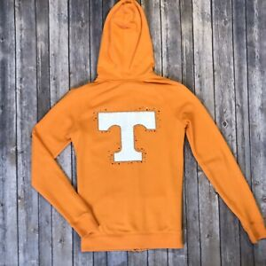 Victoria's Secret XS TENNESSEE VOLS Orange Zip Up Hooded Sweat Shirt Sequins 548