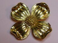 Trifari signed vintage Dogwood Blossom brooch