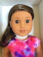 "American Girl Luciana Vega Doll & Book Girl of the Year 2018 Astronaut 18"" NIB"