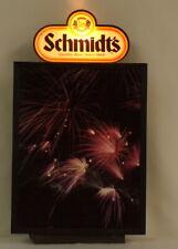 """ORIGINAL Vintage Working Schmidt's Beer 11x19"""" Lighted Bar Sign"""