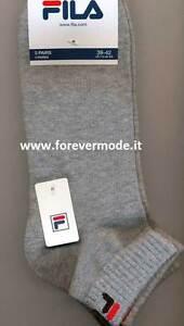 9 Paia di Calze uomo Fila in cotone con logo ed elastico a costina art F9300
