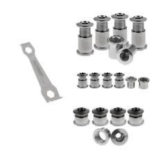 Multi Size Crankset Bolts Chainring Bolts Nuts & Hexagon Spanner Wrench Set