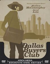 Dvd SteelBook «DALLAS BUYERS CLUB» con Matthew McConaughey nuovo 2014