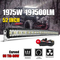 1975W 52'' courbe Barre LED Rampe Light bar phare de travail SUV ATV 4x4 Offroad