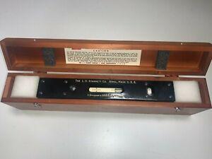 Starrett Model 199 Master Precision Level Inspection With Original Wooden Case