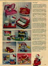 1984 ADVERT Hello Kitty Toy Telephone Doll House Musical Jewelery Box Piano
