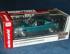 AUTO WORLD 1965 FORD MUSTANG 289 2+2 FASTBACK TURQUOISE VHTF ROAD & TRACK