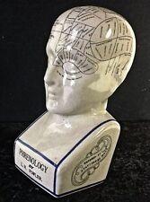 "Extra Large Phrenology Head  12"" Ceramic L N Fowler Replica Scientific Medical"