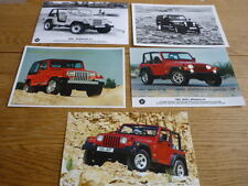 JEEP WRANGLER ORIGINAL PRESS PHOTOS X5 jm