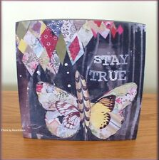 STAY TRUE WALL ART BY KELLY RAE ROBERTS 6 INCHES SQUARE FREE U.S. SHIPPING
