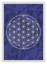 Die Blume des Lebens Nr.22 - Flower of Life Lebensblume Chakra Bild NEU in Blau