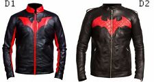 Batman Beyond Red Logo Black Leather Jacket