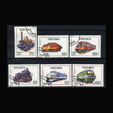 Tanzania, Sc #800-05, Canceled, 1991, Trains, Locomotives, A450FXcx