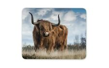 Funny Brown Cow Mouse Mat Pad - Hairy Fluffy Cow Bull Kids Gift Computer #13165