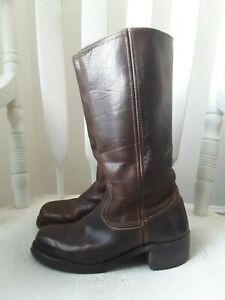 Frye cocoa leather Campus boots! 8M Classic