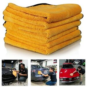 Microfiber Cleaning Cloth Soft Set Of 6 Towel Auto Drying For Car Care 16 x24In