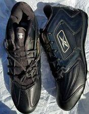 Reebok NFL Equipment Black / Silver Football Cleats Men Eur 52 Size US 16