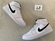 NIKE AIR JORDAN 1 MID PINK BARELY ROSE SIZE 5 UK GLOBAL SHIPPING