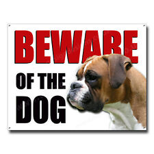 BOXER BEWARE OF THE DOG METAL SIGN,SECURITY,WARNING,GUARD DOG SECURITY. (A3)