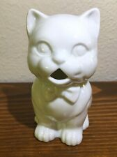Small White Kitty Cat Stoneware Creamer Pitcher  2.75 inches