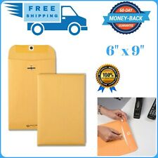100 Pcs Clasp Envelopes 6x9 28lb Kraft Shipping Mailing Gummed Business Manila