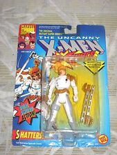 1992 TOY BIZ THE UNCANNY X-MEN SHATTERSTAR DUAL SWORD ACTION FIGURE NOC X-FORCE!