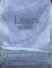 "Ling's moment Organza Bags 5""x7"" Large SilverWedding Party Gift Sheer Drawstring"