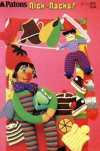 Retro Patons Knitting & Crochet Book Nick Nacks – Toys Tea Cosies Lace Collars