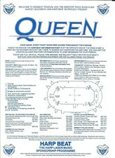Original Queen Concert Handbill Flyer 1986 Final Tour Wembley Stadium Uk