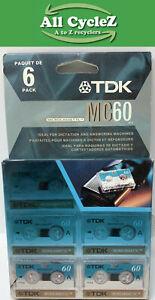 TDK MC60 Blank Microcassette NEW!