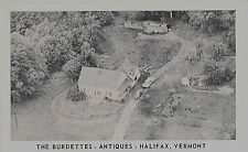 c1960 Aerial view of The Burdettes Antiques Halifax Vermont VT postcard
