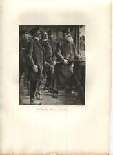New listing ANTIQUE VICTORIAN MEN ARCHERY ARCHERS CROSSBOW SHOOTERS E. BULAND ART PRINT