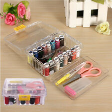New 40pcs Sewing Box Kit Set Threader Needle Hand Tape Scissor Thimble Storage