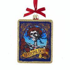 Kurt Adler – Grateful Dead Skull and Roses Deadhead Glass Ornament – Boxed