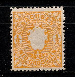 (YYAH 521) Sachsen 1863 MLH Mich 15 Scott16 Saxony Germany