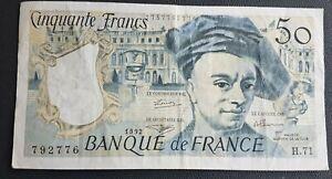 FRANCE - FRANCIA - FRENCH NOTE - BILLET DE 50 FRANCS Q DE LA TOUR 1992.