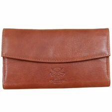 Womens | Leather | Checkbook | Ladies | Wallet | Made in USA | Vintage Brown